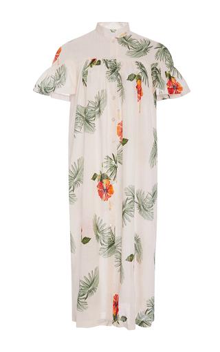 Medium christine alcalay print hibiscus shirt dress