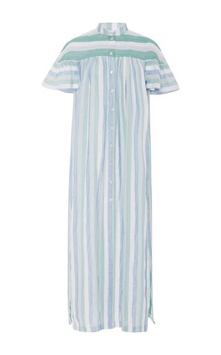 Medium christine alcalay stripe cabana stripe double cloth dress