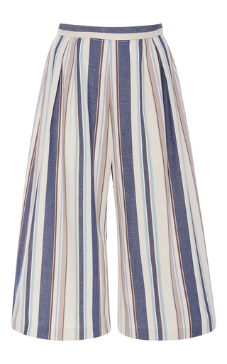 Medium christine alcalay stripe havana stripe oxford cotton canvas pant