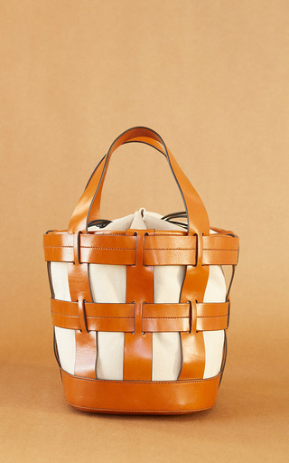 Medium trademark brown cooper cage tote