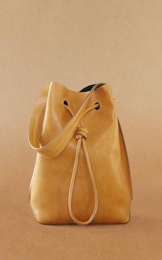 Medium trademark brown keaton cinch shoulder bag