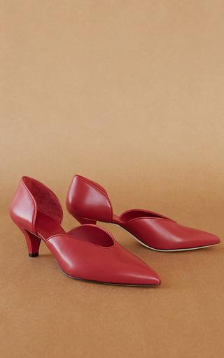 Medium trademark red ruby kidskin d orsay