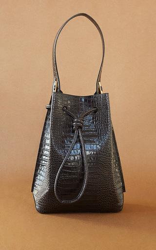 Medium trademark dark grey steep cinch shoulder bag