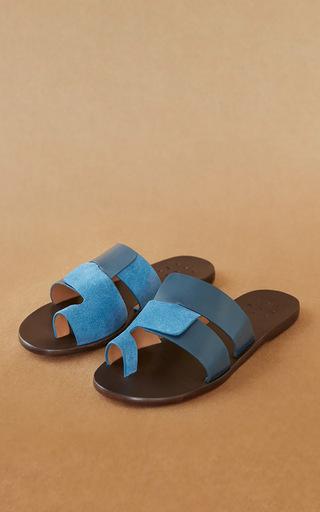 Medium trademark blue cadiz sandal