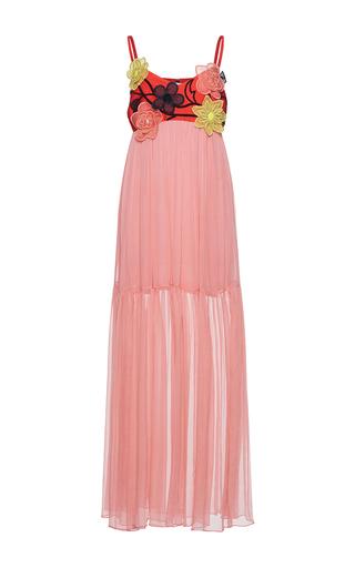 Medium gem pink dora organza flowers slip dress