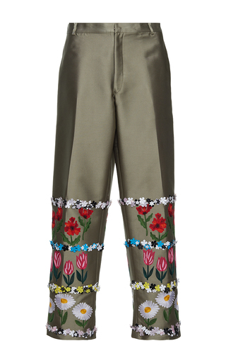 Medium gem khaki little flowers pants
