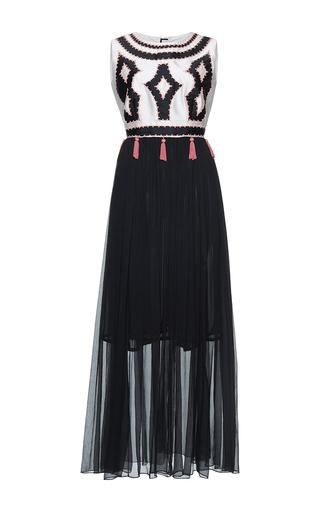 Medium gem black crocus patchwork long dress