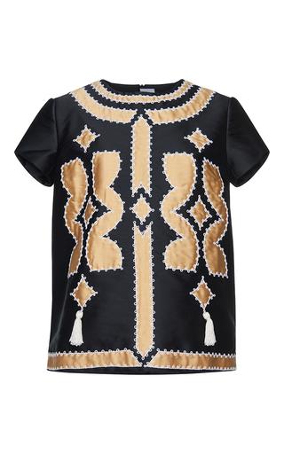 Medium gem black calla patchwork top