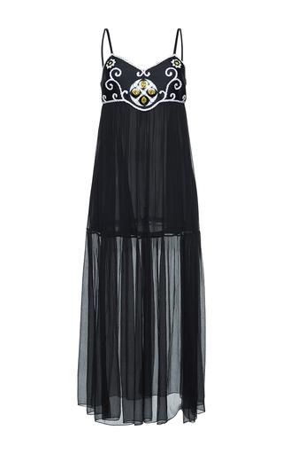 Medium gem black giuggiola arabesque long dress
