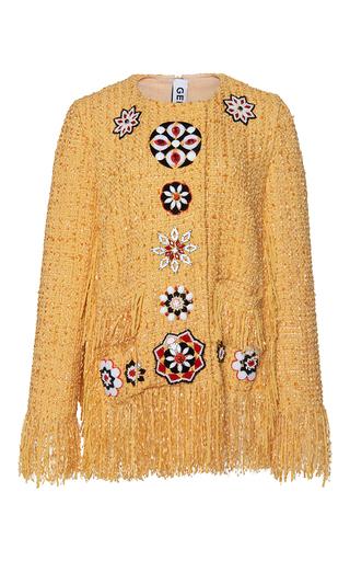 Medium gem yellow ghibli arabesque fringe jacket