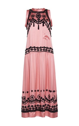 Medium gem pink bea sleeveless long sequin dress
