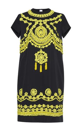 Medium gem black bora long sequin dress