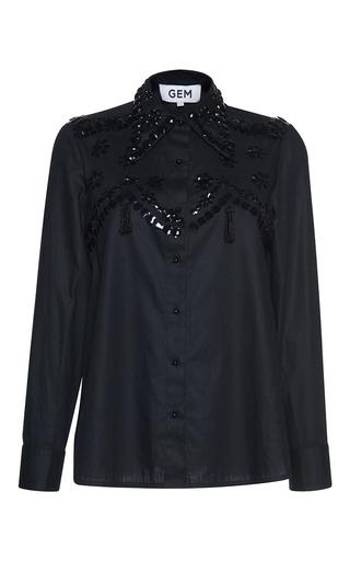 Medium gem black bruna sequin shirt