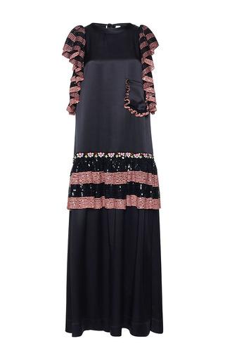 Medium gem black mirto ruches long sleeve dress