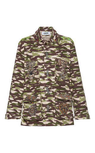 Medium gem print sorriso camouflage bows jacket