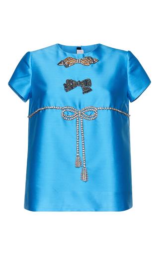 Medium gem blue esmeralda cristal bows top
