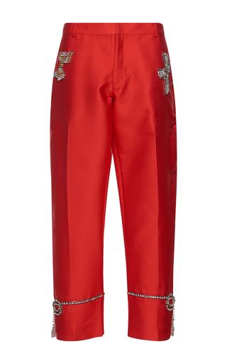 Medium gem red eugenia cristal bows pants