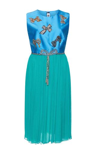 Medium gem blue evelina cristal bows short dress