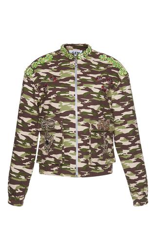 Medium gem print sibilo camouflage bows bomber