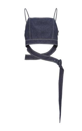Medium edun blue denim belted bustier top