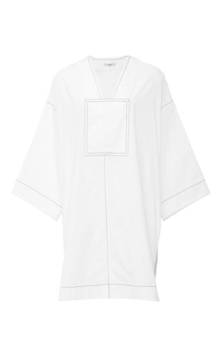 Medium edun white cotton poplin kaftan tunic