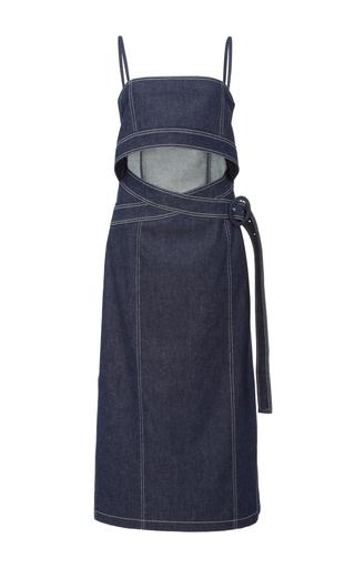 Medium edun blue denim belted bustier dress