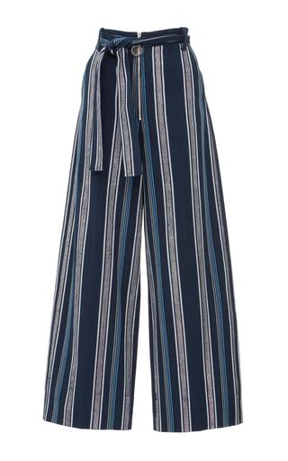 Medium edun blue textured stripe skater pant