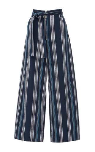 Medium edun blue textured stripe skater pant
