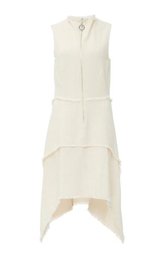 Medium edun white canvas layered front dress