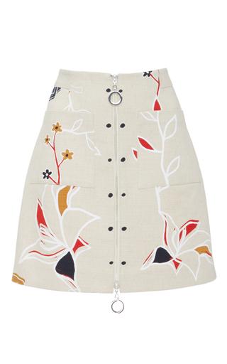 Medium edun white harlem dance linen mini skirt