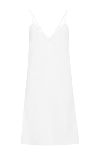 Medium edun white cotton poplin beaded camisole dress