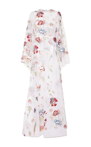 Medium sandra mansour white plein lune floral embellished dress