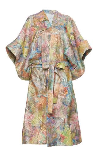 Medium sandra mansour multi soleil etranglant brocade long jacket
