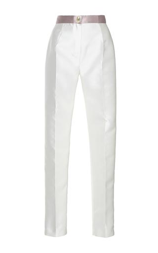 Medium sandra mansour white corail double face mikado pants