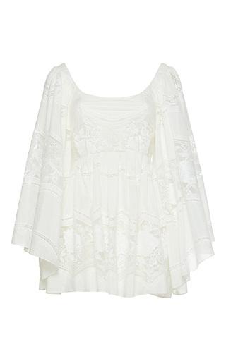 Medium sandra mansour white nuit cotton tulle embroidered mini dress