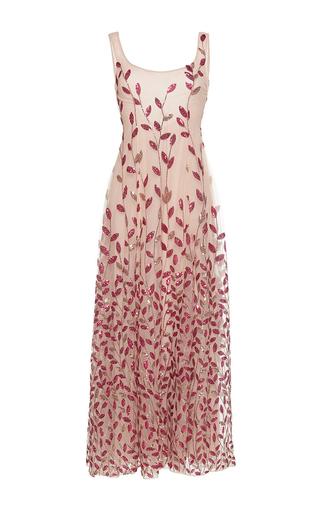 Medium sandra mansour pink sirene beaded midi dress