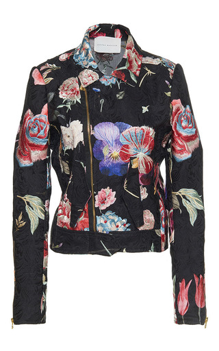 Medium sandra mansour floral beirut soleil fleur printed and embroidered brocade jacket