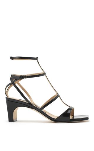 Medium sergio rossi black black patent leather sandals