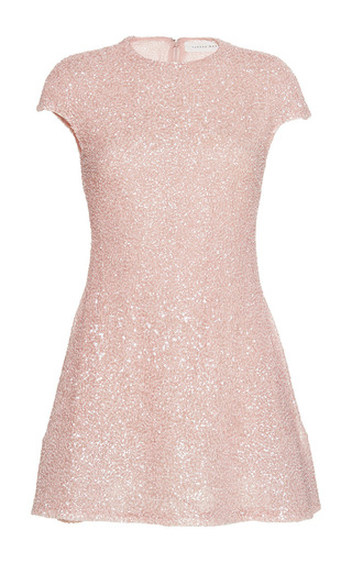Medium sandra mansour pink eclat beaded mini dress