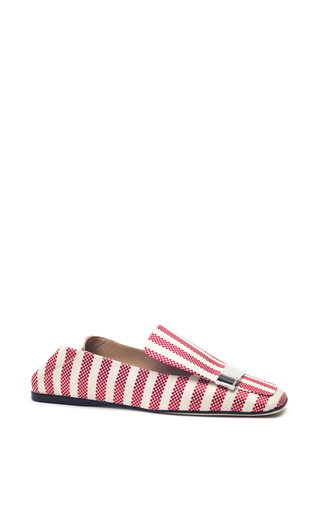 Medium sergio rossi red striped portofino flats