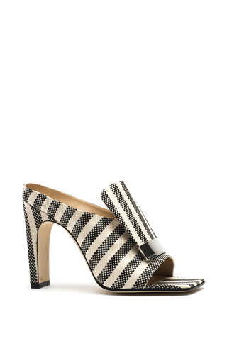 Medium sergio rossi stripe striped portofino mules