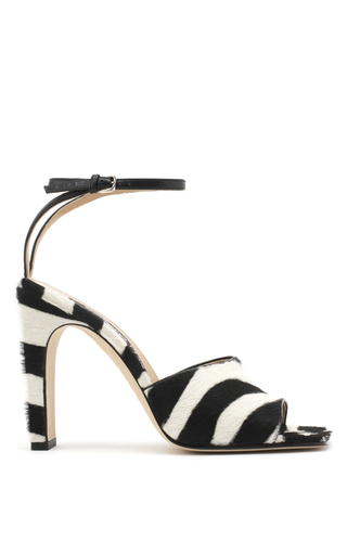 Medium sergio rossi stripe pony hair sandals