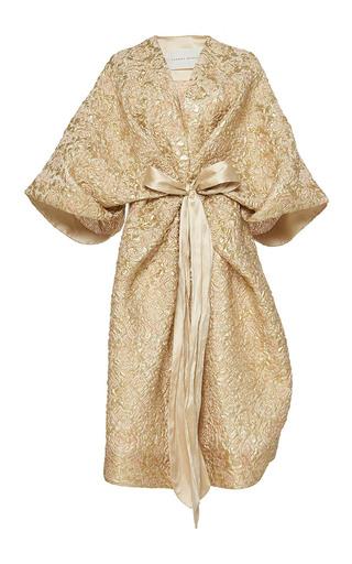 Medium sandra mansour gold rayon du soleil couchant brocade jacket