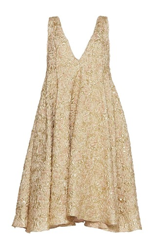 Medium sandra mansour gold lune eclatante brocade dress