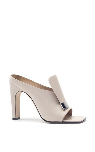 Medium sergio rossi nude neutral leather mules