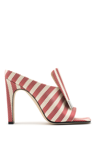 Medium sergio rossi red red striped mules
