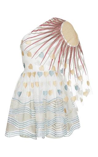Medium sandra mansour white la mer au mumure endormeur lace embroidered mini dress