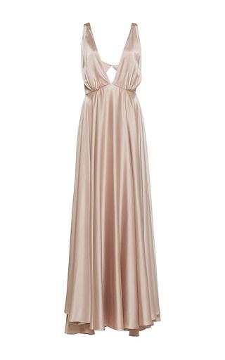 Medium sandra mansour gold couronne solaire silk long dress