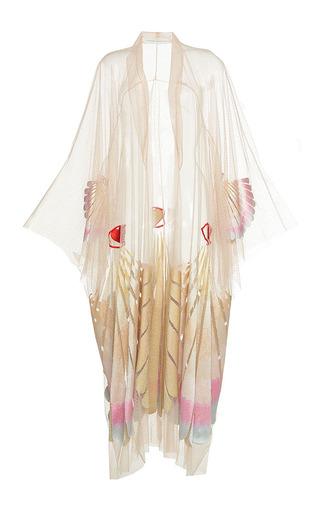 Medium sandra mansour white venus lace embroidered gilet