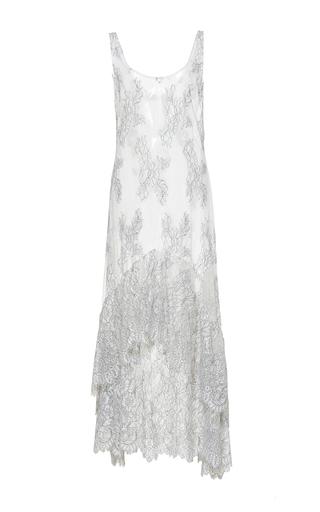 Medium sandra mansour white maree basse lace midi dress